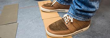 Semi-orthopedische schoenen voetafwikkeling